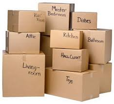 moving out boxes